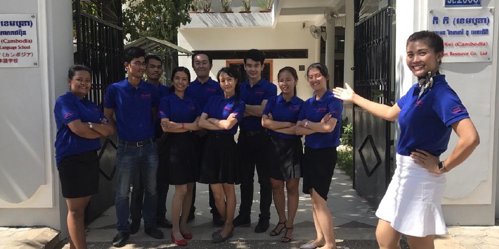 形から心に至る物事に気づくカンボジア外国人技能実習生を育てる。