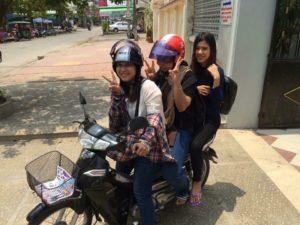ケイケイカンボジアヒューマンリソースの事務所まで、会いに着てくれることも