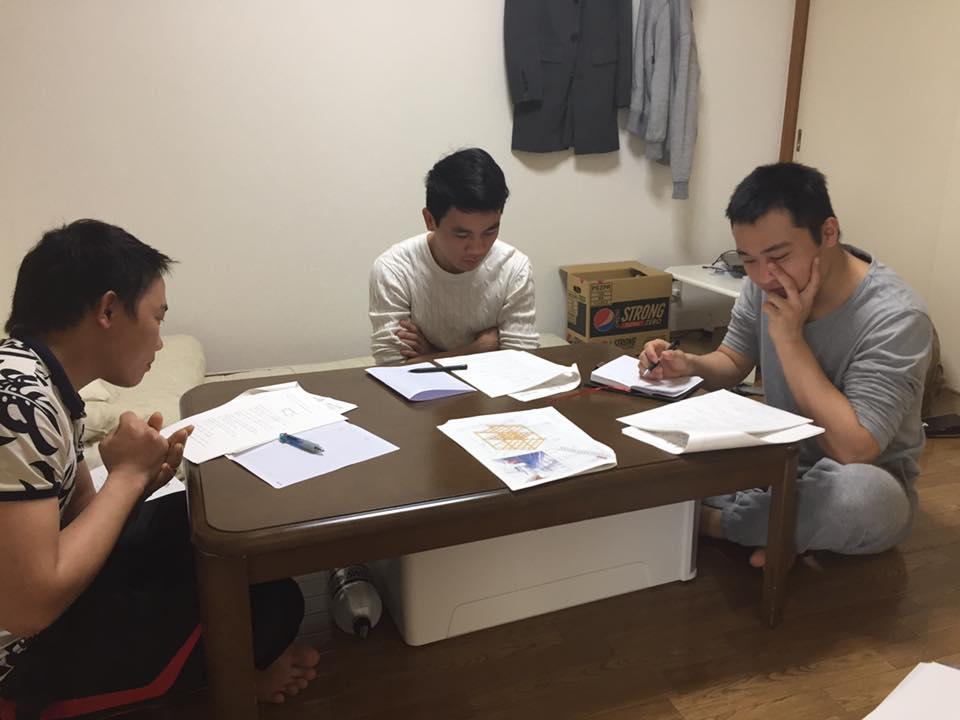 ただ今外国人技能実習移行試験の勉強中