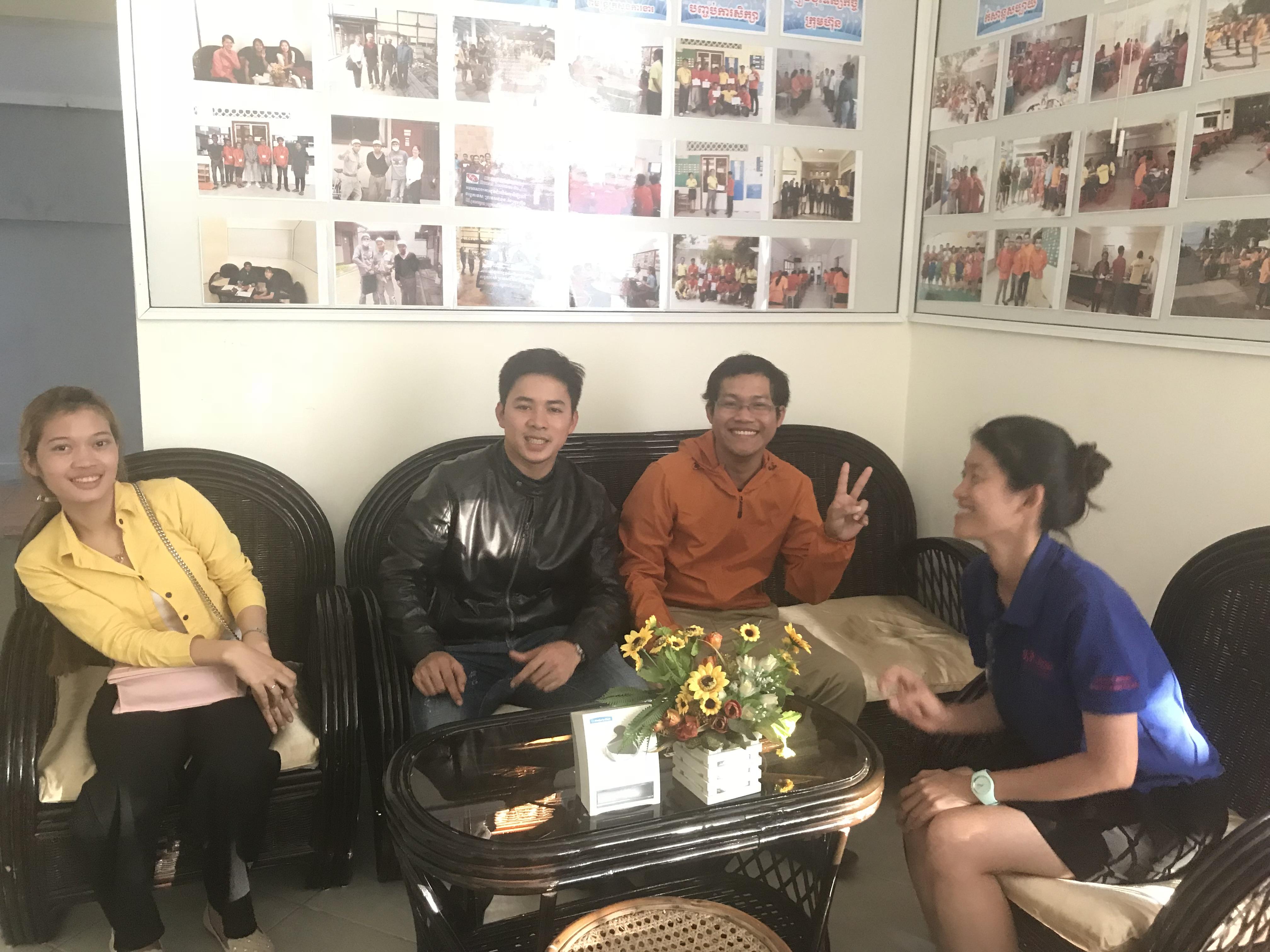 3年満了帰国外国人技能実習生が訪問してくれました。