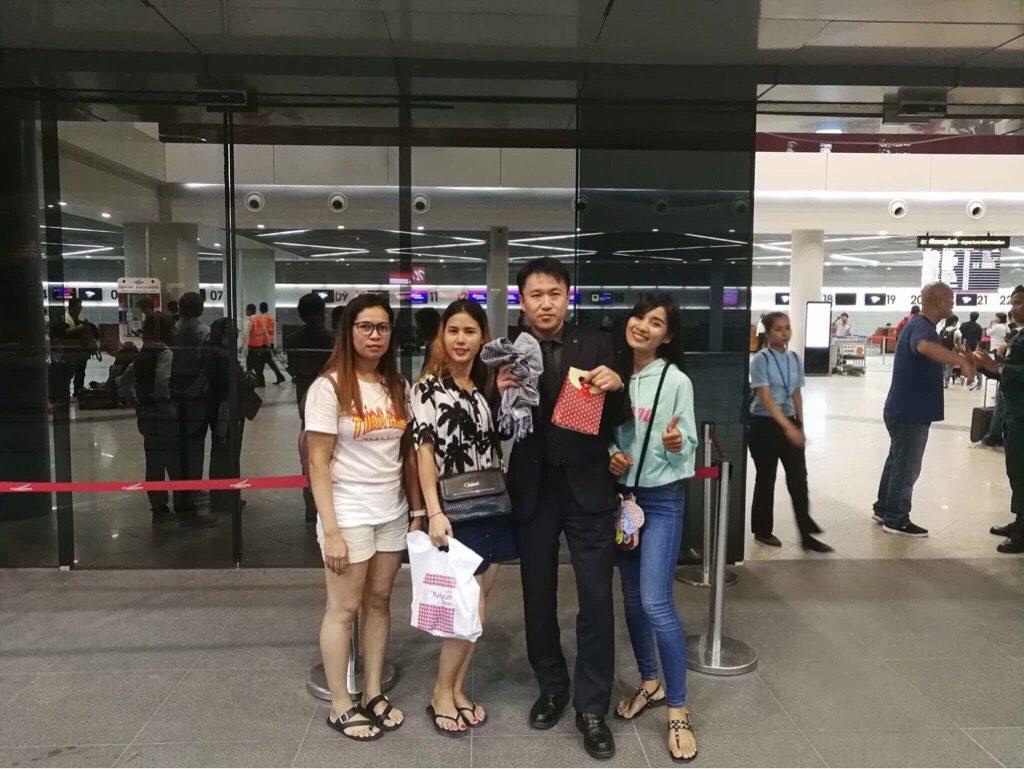 技能実習満了で帰国している元技能実習生たちが会いに空港まで来てくれました!