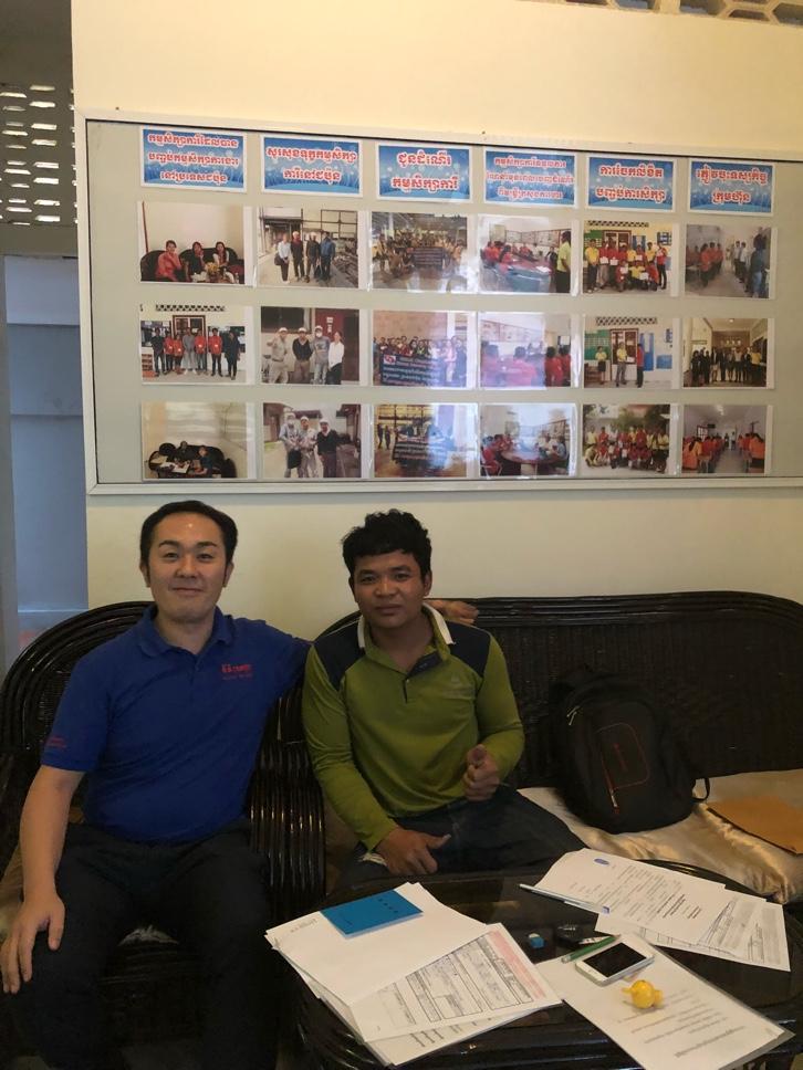 帰国するカンボジア技能実習生がKEIKEIに来ました。
