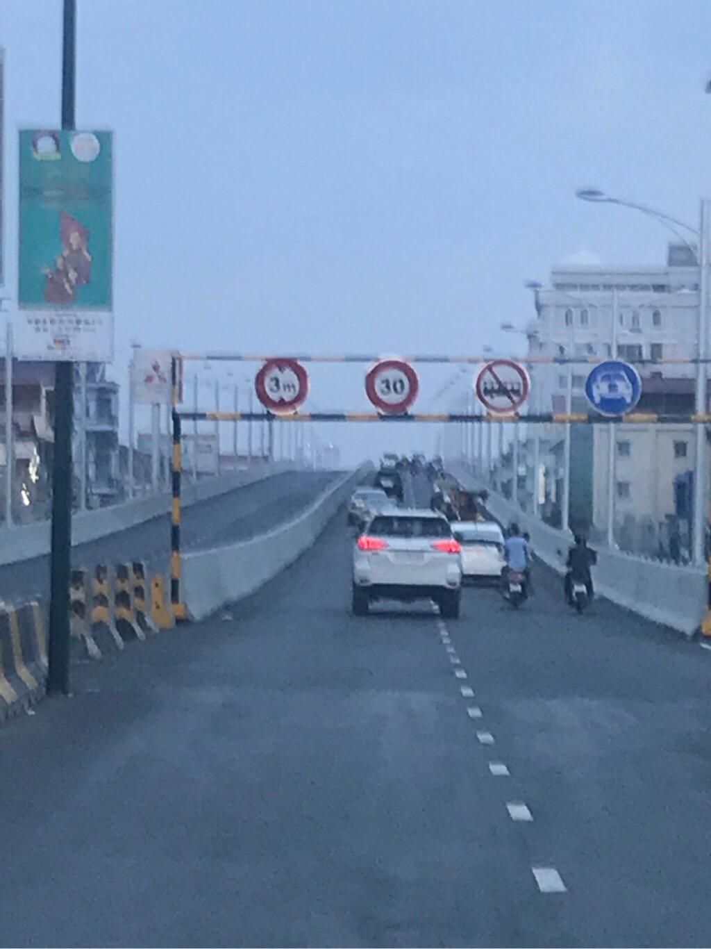 プノンペン市内道路開通
